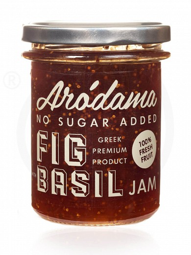 "No added sugar premium fig & basil jam from Crete ""Arodama"" 220g"