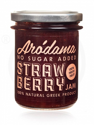 "No added sugar premium strawberry jam from Crete ""Arodama"" 220g"