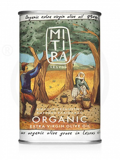 "Organic extra virgin olive oil «Mitira Lesvos» from Lesvos ""Rizopoulos"" 250ml"