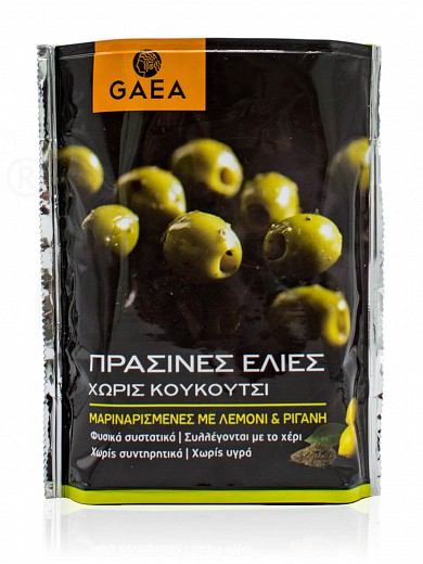 "Organic pitted green olives from Chalkidiki ""GAEA"" 290g"