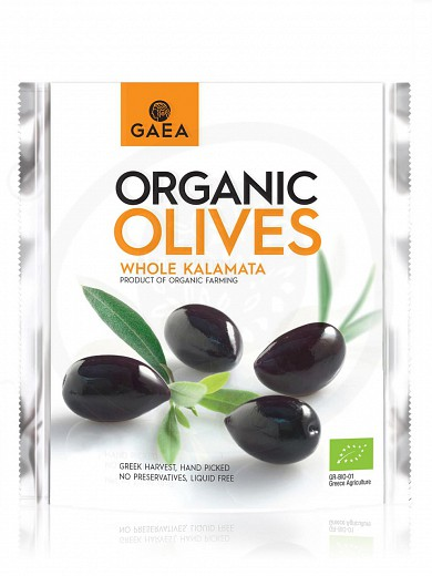 "Organic whole Kalamata olives ""Gaea"" 150g"