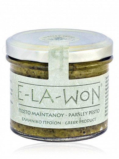 """Parsley pesto with grated garlic & capers from Attica """"Elawon"""" 130g"""