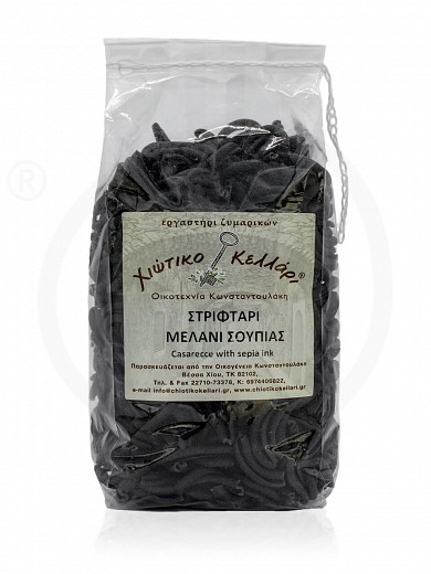 "«Striftaria» traditional pasta with cuttlefish ink, from Chios ""Chiotiko Kelari"" 500g"