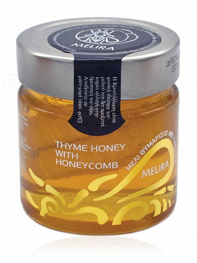 "Thyme honey with honeycomb, from Evia ""Melira"" 280g"