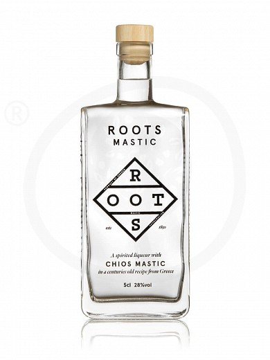 "Traditional liqueur «Mastic» with Chios mastic from Attica ""Roots"" 50ml"