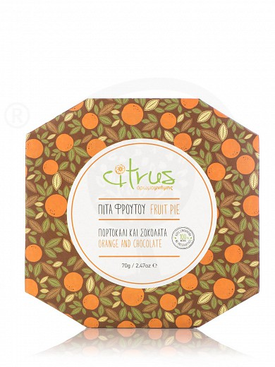 "Traditional orange & chocolate pie from Chios ""Citrus"" 70g"