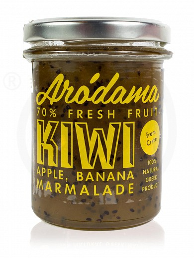"Traditional premium kiwi, apple & banana jam from Crete ""Arodama"" 220g"