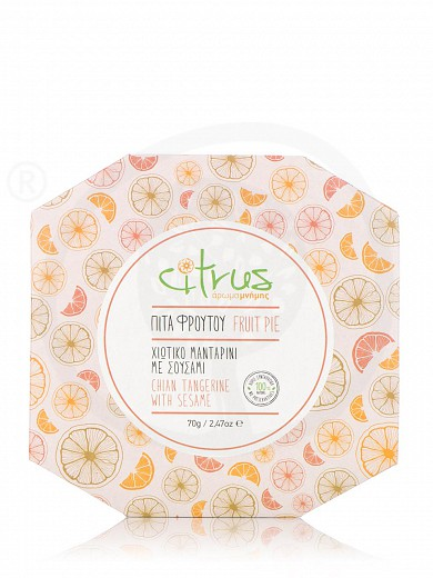 """Traditional tangerine & sesame pie from Chios """"Citrus"""" 70g"""