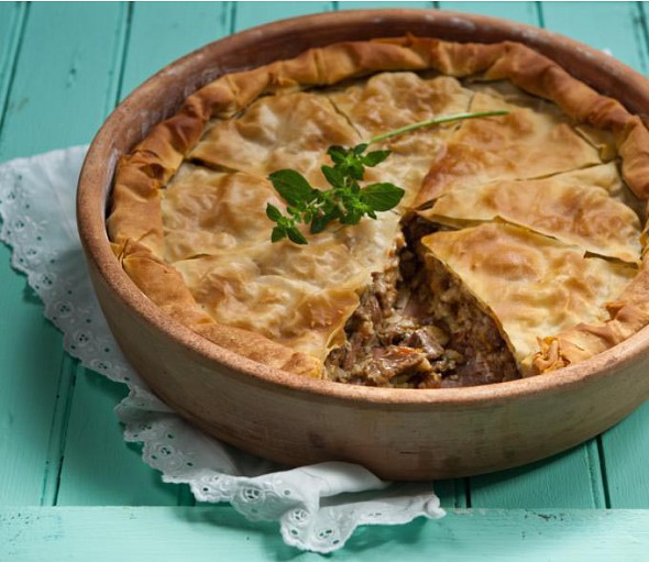 Meat pie from Cephalonia