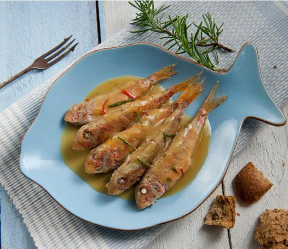 Red mullet savoro from the Cyclades