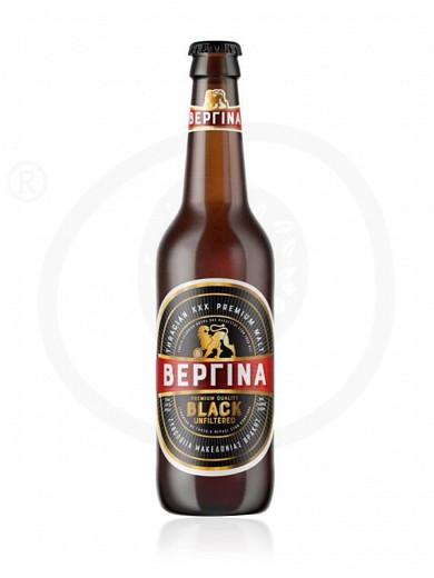 "Black unfiltered beer from Komotini ""Vergina"" 330ml"