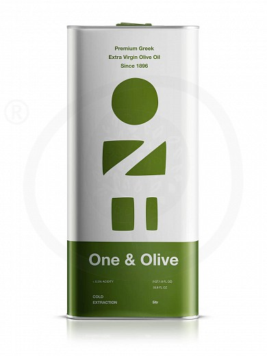 "Extra virgin olive oil «One & Olive» from Messinia ""Anagnostopoulos"" 5lt"