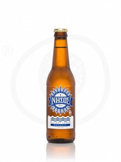 """Organic allday Lager beer from Tinos """"Nissos"""" 330ml"""